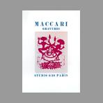 Linogravure originale signée de Maccari Mino : Maccari gravures