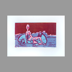 Original signed linocut de Maccari Mino : Without title V