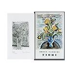 Livre avec gravure de Tamburi Orfeo : Fiori