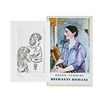Livre avec gravure de Tamburi Orfeo : Ritratti Romani