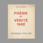 Livre original de Eluard Paul : Poésie et Vérité 1942