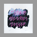 Original signed print de Argatti Philippe : Graff rose fluo