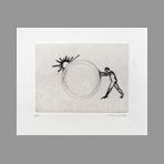 Original signed drypoint de Favier Philippe : Le passe-temps