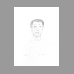Original signed lithograph de Klossowsky Pierre : Selfportrait