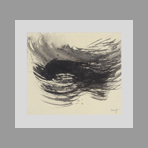Original signed drawing de Laubi�s Ren� : Composition III