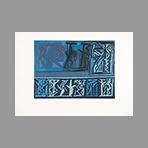 Estampe originale signée de Licata Riccardo : Composition sans titre I