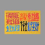 Estampe originale signée de Licata Riccardo : Composition sans titre II