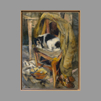 Original canvas de Chastel Roger : Le chien Billy
