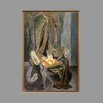 Huile originale signée de Chastel Roger : La chaise aux oignons