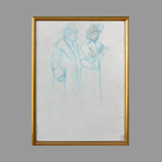 Original drawing de Steinlen TA : Couple