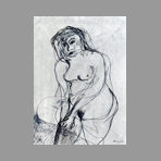 Signed drawing in ink de Milani Umberto : Nude