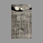 Monotype original signé de Miroglio Valerio : Coppia spaziale davanti alle stelle