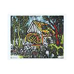 Lithographie originale signée de  : Le moulin