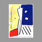Lithograph poster de Kuroda Aki : Barcelona exhibition