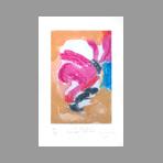 Signed etching carborundum de Arlandis Antoine : R.M. Rilke Portrait intime 36