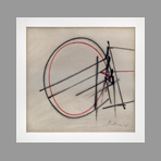 Signed single work de Scanavino Emilio : Abstract composition