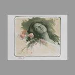 Original lithograph de Estampe Moderne : Albine