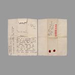 Signed handwritten letter de Mathieu Georges : Handwritten letter