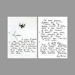 Signed handwritten letter de Mathieu Georges : Handwritten letter II