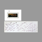Handwritten document de Mathieu Georges : Handwritten card