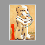 Original signed lithograph de Ant�s Horst : Composition