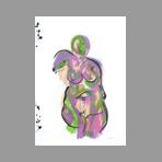 Lithographie originale signée de Wesel Leo : Nu II