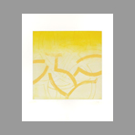 Original signed etching de Frydman Monique : Yellow composition