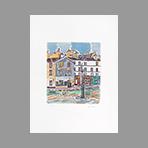 Original signed lithograph de Tamburi Orfeo : Place de Clichy