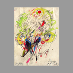 Original signed drawing de Martini Sandro : Unknown title IV