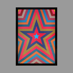 Original signed screenprint de Lewitt Sol : Five pointed star with colorbands
