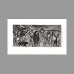 Original signed etching de Steinlen TA : The exodus
