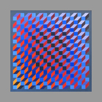 Painting on wood de Yvaral Jean-Pierre : Polychromatic structure RBV n�117
