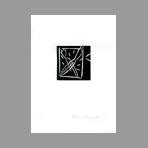 Original signed linocut de Kuroda Aki : Lettre anonyme II