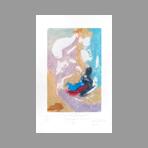 Signed etching carborundum de Arlandis Antoine : R.M. Rilke Portrait intime 41