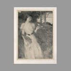 Original lithograph de Estampe Moderne : Soir d'octobre