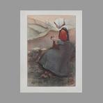 Original lithograph de Estampe Moderne : Fleur de Lande