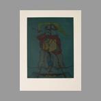 Original signed etching de Camacho Jorge : Les vitriers IV