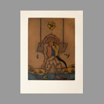 Original signed etching de Camacho Jorge : Les vitriers VII
