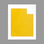 Estampe originale signée de Argatti Philippe : Falaise monochrome jaune