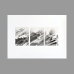 Original signed engraving de Ab� Akira : Five waves