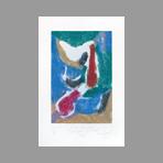Signed etching carborundum de Arlandis Antoine : R.M. Rilke portrait intime 37