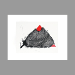 Original signed screenprint de Scanavino Emilio : The red triangle