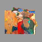 Original acrylic on paper de Guibal Henri : D'un monde à l'autre