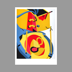 Original screenprint de Telemaque Herv� : Unknown title II