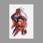 Lithographie originale signée de Wesel Leo : Nu V