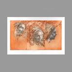 Original signed etching de Vilage Michel : Regard int�rieur