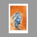 Original signed etching de Vilage Michel : The dream