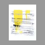 Sérigraphie originale signée de Argatti Philippe : Eight Lines, Hommage à Steve Reich