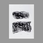 Linogravure originale signée de Argatti Philippe : Landscape 2