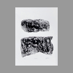 Original signed linocut de Argatti Philippe : Landscape 2